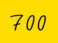 700 Followers thank you