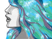 glistening hair