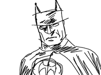Batman from sketch to color