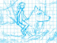 Wolf Rider study