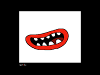 Cartoon mouth
