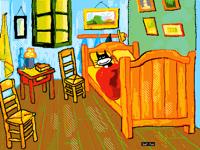 Bedroom in Arles (Vincent Van Gogh)