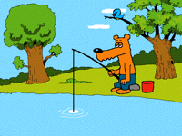 Bob goes fishing