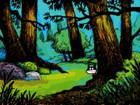Super Cat in the Wood