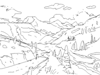 where I want to be  from sketch to color