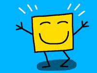 A yellow box (dancing)