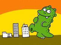 Godzilla got some fun