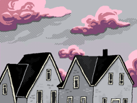 Old houses from sketch to color