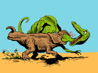 Dinosaurs from Sketch to Color