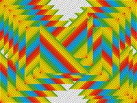 Random rainbow illusion