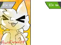 Draw arctic foxy with rtx on