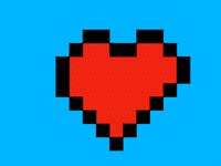 Pixel heart (FLASHING IMAGES)