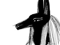 Anubis doodles-