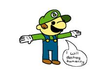 T-pose Luigi