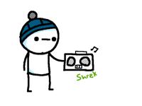 Jamming to shrek music