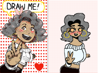draw her in your style !!!
