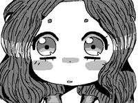 Kawaii anime girl blinks
