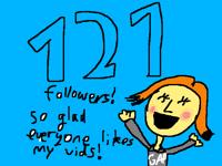 OMG! 121 followers!!