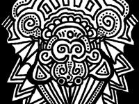 Coloured doodle monkey