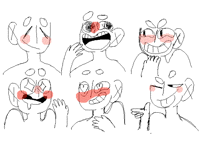 Practicing: happy expressions