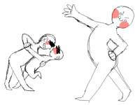 Practicing: poses