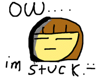 Frisk stuck in a hole -_-