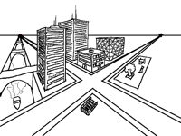 How to make a city with 2 point perspective