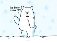 Ice bear says hi