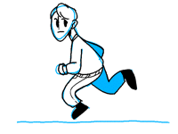 Running toward deadlines like