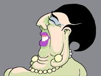 Cheek squeezer aunt